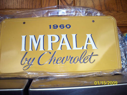 "1960 Dealer Show Room ""License Plate"""