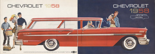 1958 Chevrolet Nomad Station Wagon - brochure cover