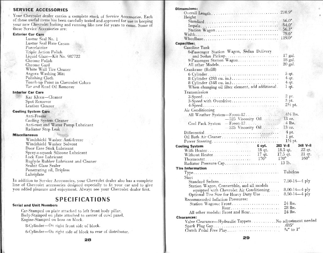 1959 Chevrolet Owners Manual 16