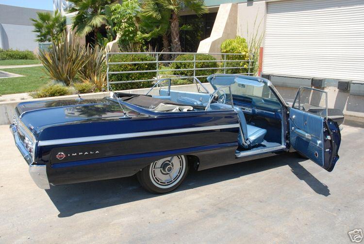 1964 impala ss dayton blue convertible 03. Black Bedroom Furniture Sets. Home Design Ideas