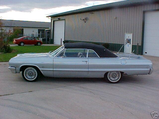 1964 impala ss convertible silver 3. Black Bedroom Furniture Sets. Home Design Ideas
