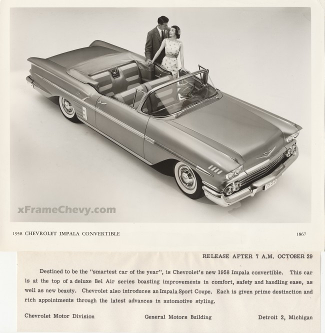 GM Photographic 1958 Impala Convertible