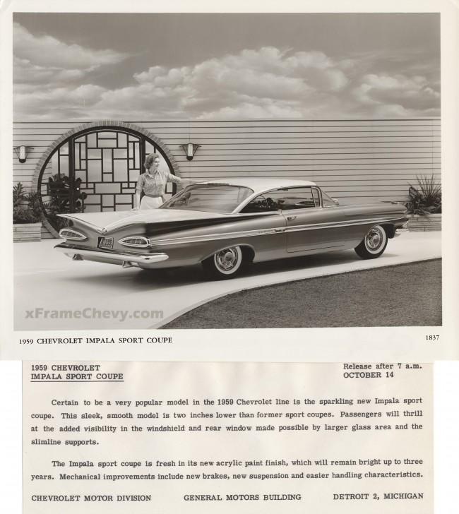 GM Photographic - 1959 Impala Sport Coupe