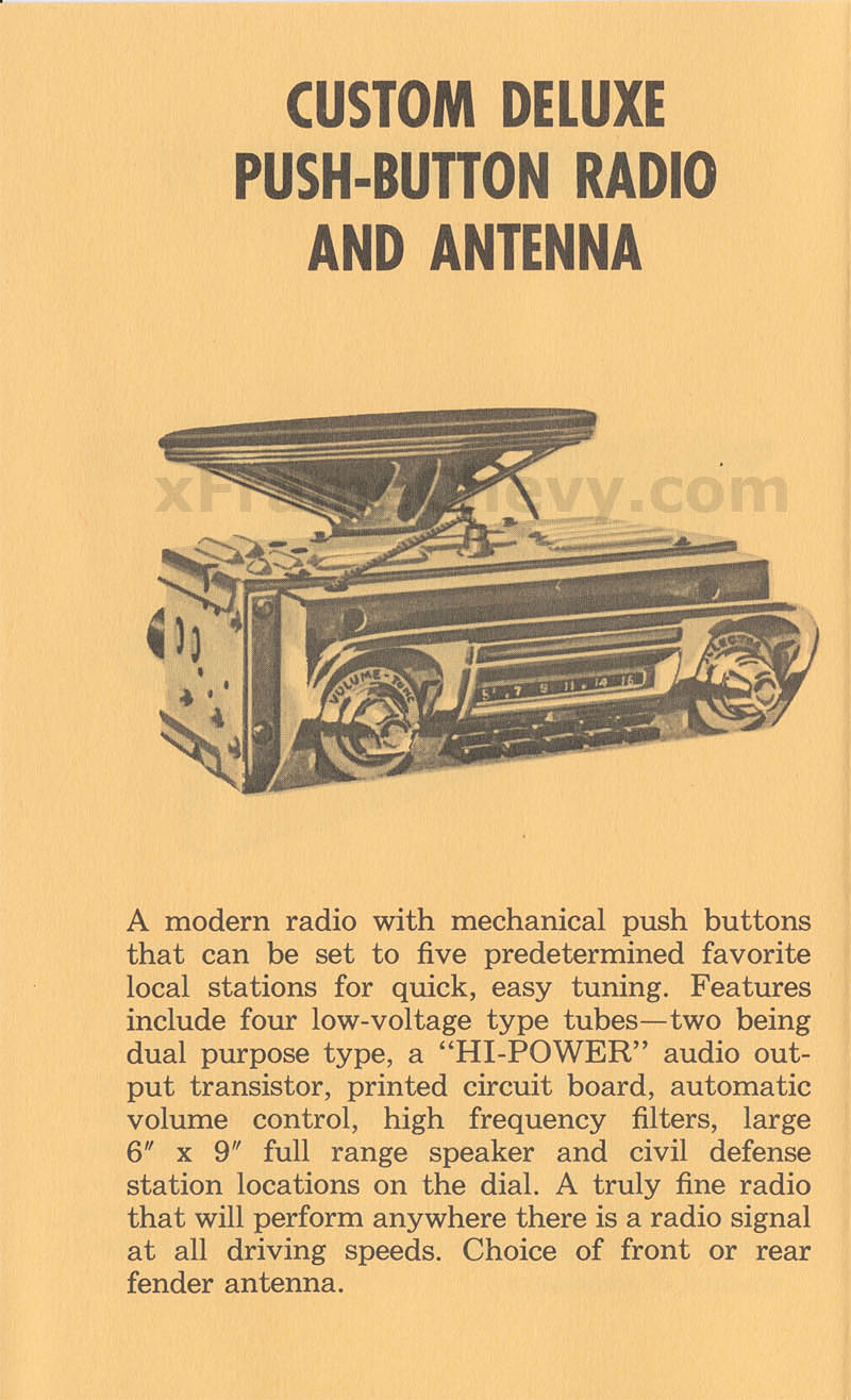 Custom Deluxe Push-Button Radio and Antenna