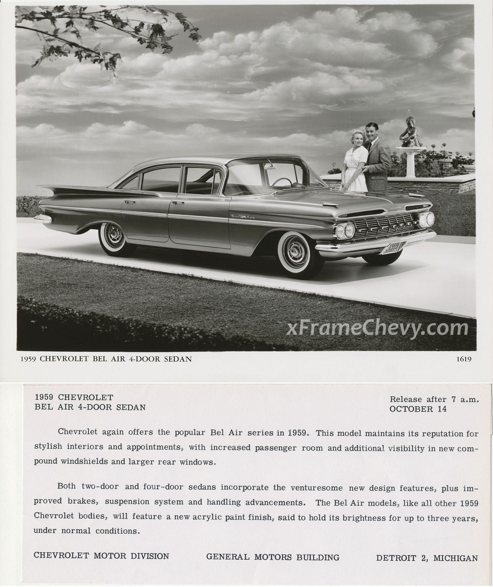 photo GM Photographic - 1959 Chevrolet Bel Air 4-door Sedan