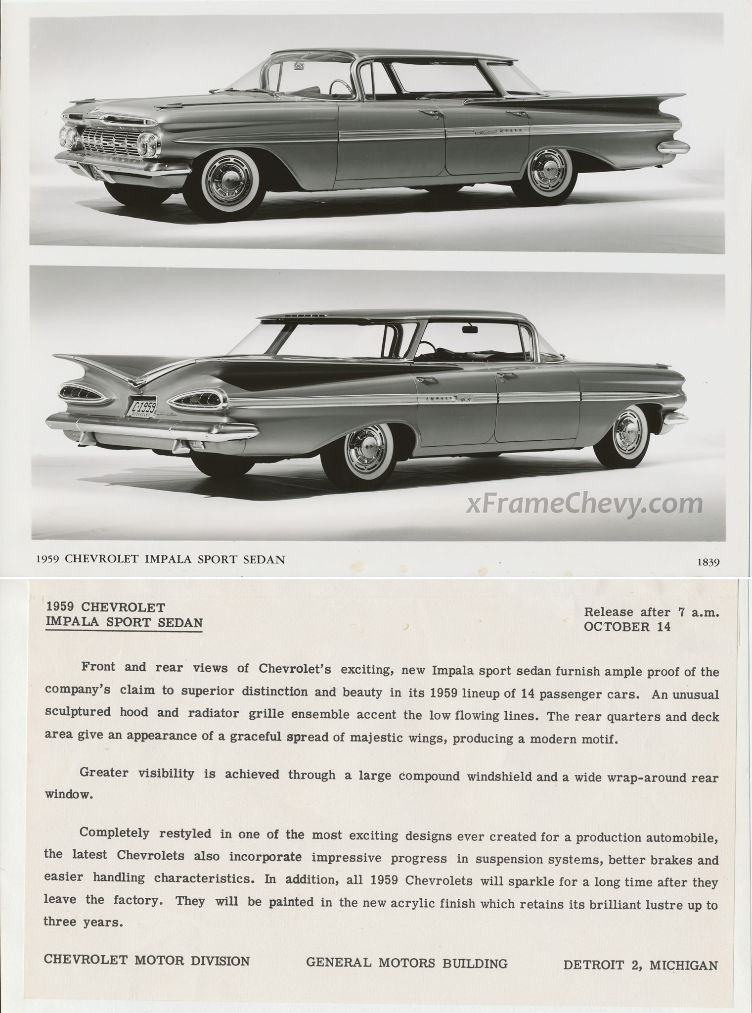 photo - GM Photographic - 1959 Impala Sport Sedan
