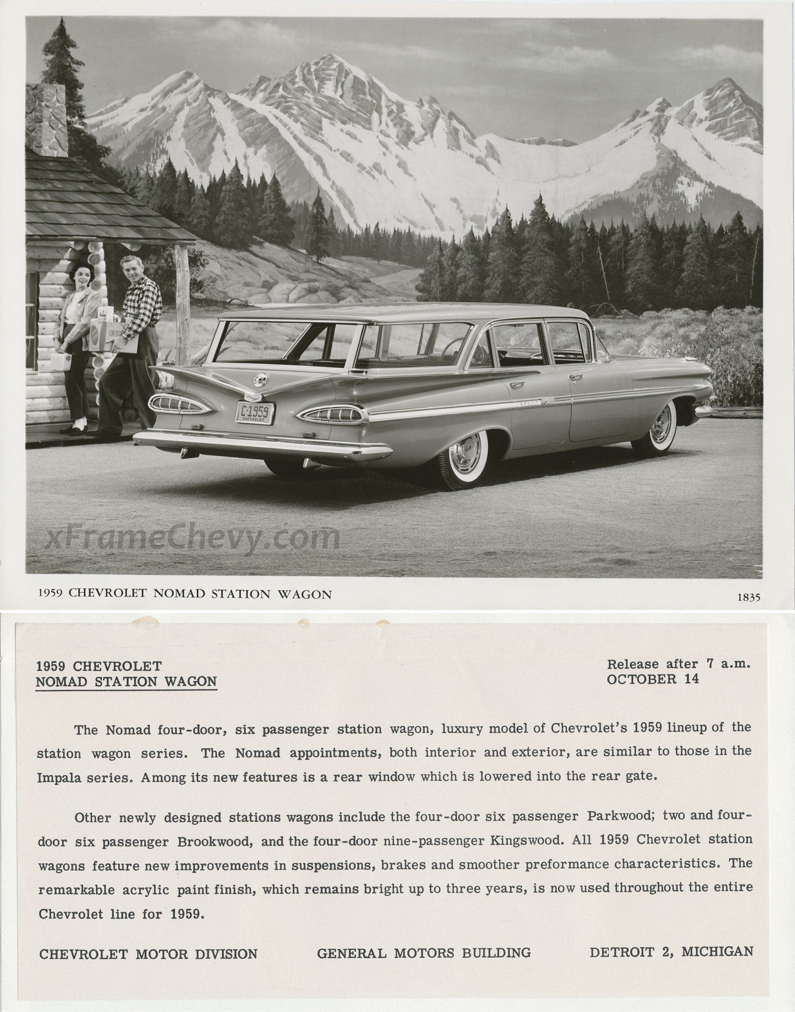 photo - GM Photographic - 1959 Nomad Wagon