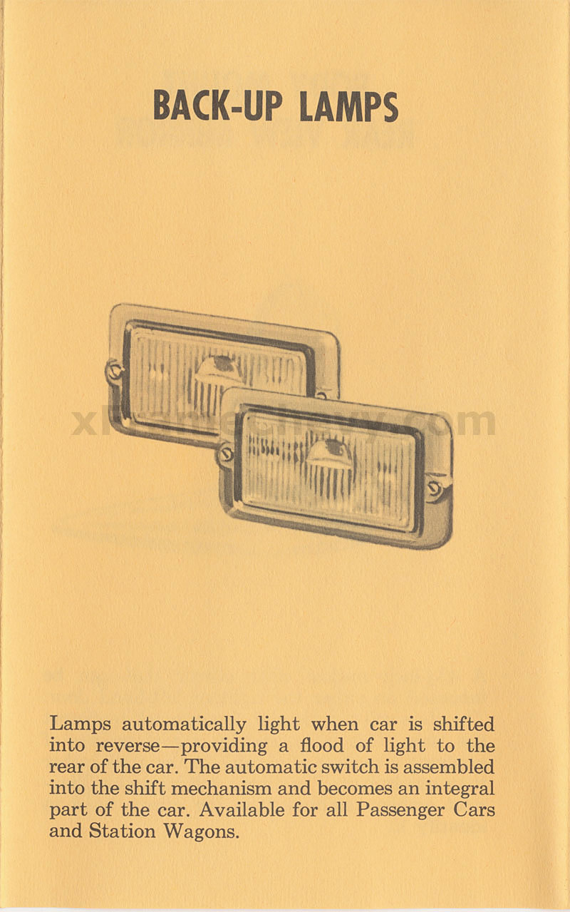 Back-Up Lamps